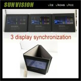 Single LCD Screen Music To net Video Card Business Brochure
