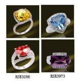 925 Silver-Plated Ringen van de Halfedelsteen van de Ring voor Vrouwen (RSE3286)