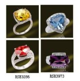 925 Silver-Plated кольцо кольца драгоценных камней для женщин (RSE3286)