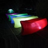 Het opblaasbare Luchtkussen van het Bed van de Bank van de Zak van de Slaap, het Kleurrijke OpenluchtLuchtkussen van de Slaap met LEIDEN Licht
