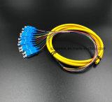 Optische Kabel 12 van de Vezel van Telecommucation van Gpon de Koorden van het Flard van Boundle Sc/Upc van Kernen