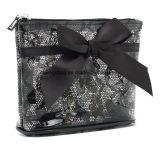 PVC clair avec Madame à la mode Cosmetic Bags, sacs de lacet de renivellement avec la proue