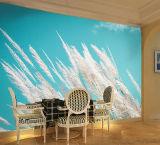 Imagen de los murales florales del papel pintado del gran escala/de la pared de los diseños únicos hermosos de encargo