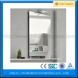 Zilveren Spiegel, de Spiegel van de Badkamers, het Decoratieve Glas van de Spiegel