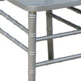 Madera maciza en plata silla Chiavari para bodas y eventos