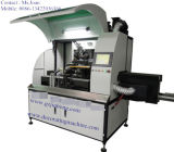 단 하나 색깔의 기계를 인쇄하는 유리병 또는 콘테이너 실크 스크린