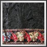 Het Fluweel van de Polyester van het Kant van het Borduurwerk van de ketting met het Borduurwerk van de Ketting