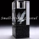 Sostenedor de vela cristalino del cilindro (ZT0060)
