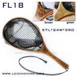 最上質の節玉木製手のフライフィッシングのマスのたも網