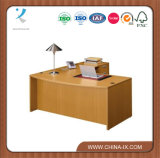Contemporáneo de madera Bow Front L Desk