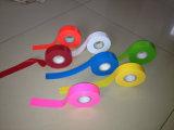 Pegamento y cinta que señala por medio de una bandera fluorescente reflexiva no adhesiva de PVC/Vinyl