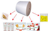 papel revestido para las tazas frías de la bebida, taza del agua, tazón de fuente del PE 15g+190g+15g de sopa
