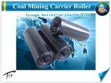 炭鉱コンベアスチールプレーンフラットアイドラローラー