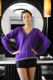 Ladies V Neck Cashmere Cardigan