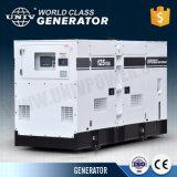 40kVA 30kw gerador diesel de gabinete de som com as rodas do reboque móvel