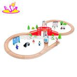 Новые популярные по вопросам образования 39 ПК розового дерева железнодорожных поездов игрушки для детей W04c076