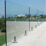 Balcón de vidrio sin cerco balaustrada/Baranda/Barandilla con espita