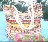 Saco de praia de moda Corda de algodão Sacola de Compras Saco Saco presente de promoção de lona