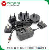 Nosotros UE Au RU 12V 1.25A AC DC Adaptador de alimentación intercambiables con UL cUL CE FCC