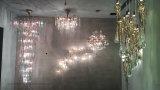 Rama de lujo de gotas de agua de cobre de diseño lámpara de araña de G9 Iluminación lámpara de araña