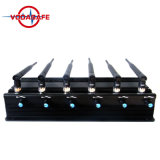Het stationaire Regelbare Cellulaire Blokkeren van de Stoorzender van Telefoon 6 Antarnnas voor GSM, CDMA, 3G, UMTS, 4glte, wi-Fi/Bluetooth, 4gwimax, GPS, Signaal Lojack