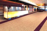 Boucle de couleur unie Vente chaude Bureau de pieu Nylon avec tapis de tuiles d'appui de PVC