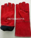 14の'溶接作業のための赤い牛そぎ皮の手袋