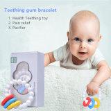 Het Stuk speelgoed van de Armband van Teether van de Gom van het Tandjes krijgen van de Baby van het Silicone van de Rang van het voedsel
