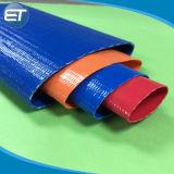 La poser à plat en plastique flexible en PVC souple flexible du tuyau de jardin d'Irrigation de l'eau