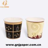 22oz la impresión de papel desechables de doble pared de taza de café/té caliente para beber