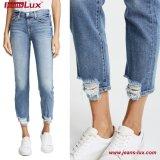 Jeans scarni afflitti strappati distruss casuali Jl-Sk080 del denim delle donne