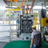 Tratamento de Superfície de suspensão automática Granalhagem Máquina para Aros de Automóveis