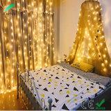 Natal branco quente Cortina de LED de luz com tamanhos diferentes