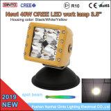 Boîtier jaune 40W LED Spot de lumière pour camion lourds Caterpillar