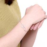 Hete Verkoop 925 de Echte Armband van de Kleur Zircon van de Armband van het Staal Populairste Bijvoegsel Aangepaste Zilveren