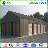 Casa prefabricada del edificio de la estructura de acero de 2 suelos para la oficina de trabajo temporal