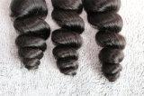 8A Remyの毛の緩い波自然なカラーブラジルの毛の織り方