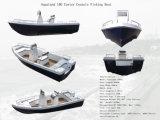Шлюпка мотора стеклоткани Китая Aqualand 18feet 5.5m/рыбацкая лодка спортов/шлюпка разбивочного пульта/Panga (180)