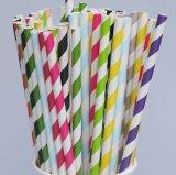 Kleines Wholesale Order Disposable Paper Drinking Straws für All Events und Accassion