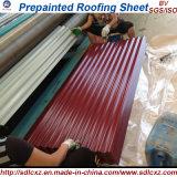 電流を通されるPrepainted Aluzincの鉄の屋根ふきシート/PPGIシートに屋根を付ける