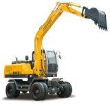 Jg100s 8 Ton Escavadeira de rodas hidráulicas