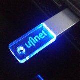 Mini logotipo do costume da vara do USB do cristal