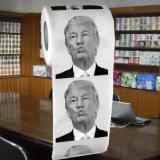 Donald Trump imprimiu o rolo personalizado papel higiénico do tecido de banheiro