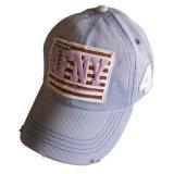 Горячим бейсбольная кепка помытая сбыванием с передним логосом Gjwd1738
