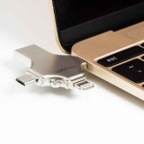 iPhone MacBook 인조 인간을%s 1개의 USB 드라이브에 대하여 USB Microusb 번개 유형 C 공용영역 128GB Pendrive 4