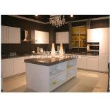 Gabinete de cozinha modular popular da madeira contínua do abanador da fonte da fábrica de China