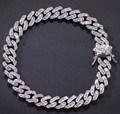 Mens jóias CZ Bracelete Link Cubano personalizada