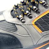 Резиновый обувь безопасности PU Outsole кожаный облегченная