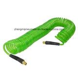 Le recul de polyuréthane (PU) le flexible à air - 1/4 pouces par 50 pieds, 1/4 pouces avec extrémités en laiton