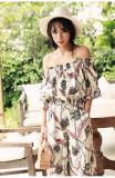 Reizvolle Form-stilvolle gedruckte Frauen Kleid, Sommer-Kleid